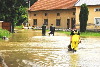 Záplavy v Kojetíně u Přerova