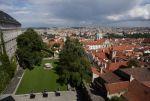 Pohled na Prahu ze zahrad Pražského hradu