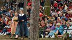 Obecenstvo pod širým nebem v pražské Šárce