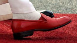 Tradiční červené boty Benedikta XVI.