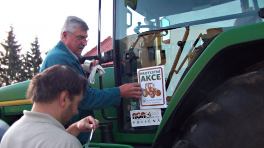 Protesty zemědělců na jižní Moravě